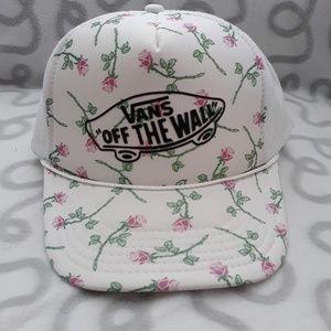Vans rose trucker hat cap